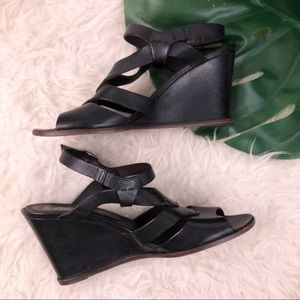 Belle Sigerson Morrison Leather Strappy Wedges 10